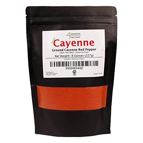 Four Seasons Harvest Ground Cayenne Red Pepper Non-GMO & Kosher...