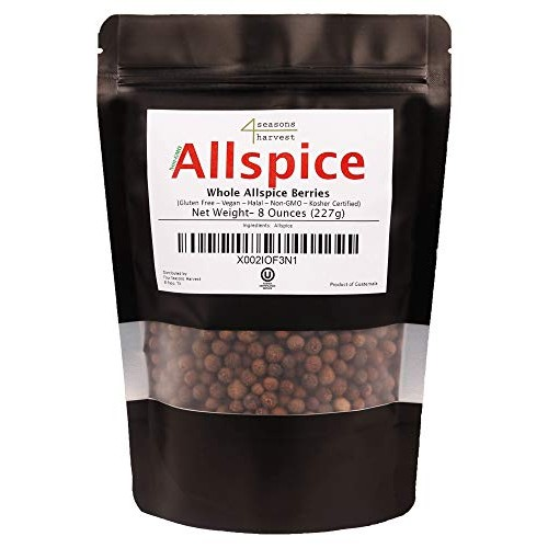 Four Seasons Harvest Whole Allspice Non-GMO & Kosher Certified...