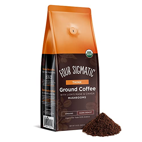 Four Sigmatic Mushroom Ground Coffee - USDA Organic and Fair Tra...