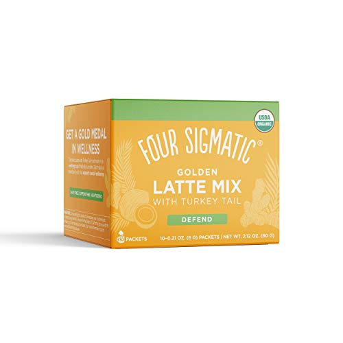 Four Sigmatic Golden Latte, Organic Instant Golden Latte with Sh...