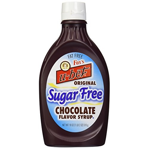Foxs Ubet Chocolate Syrup, Sugar-Free, 18 Ounce Bottle