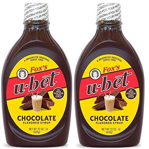 Foxs U-Bet Original Chocolate Flavor Syrup, 22 Ounces, Pack of 2