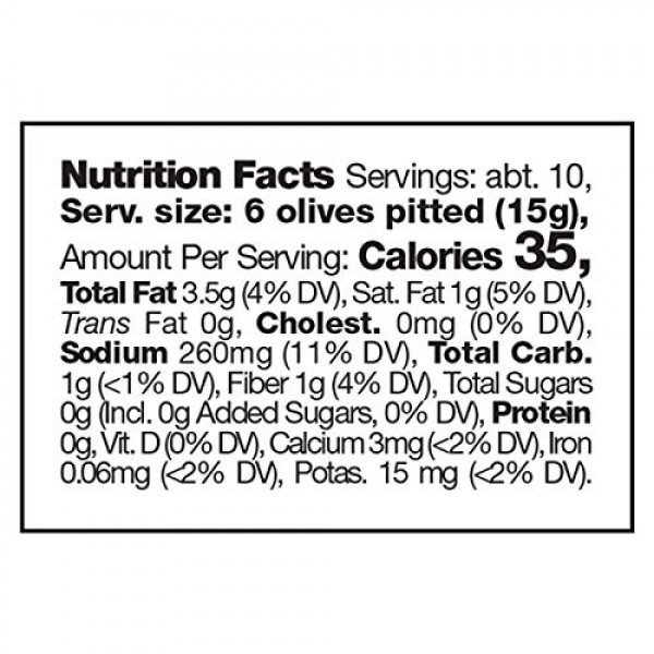 FRAMORE, Pitted Olives in water mix 10,2 Ounce pack of two Impor...