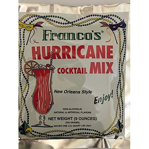 Francos Hurricane Cocktail Mix Five 9-ounce packages
