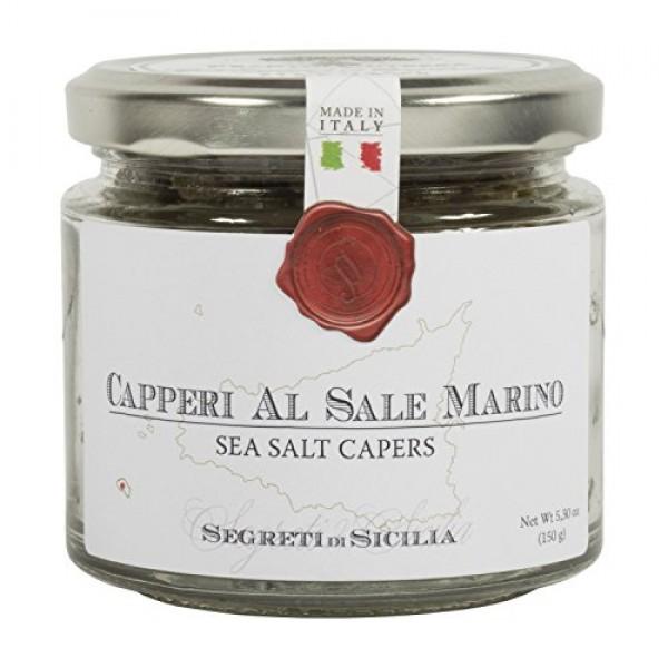 Frantoi Cutrera - ITALIAN Capers in Sea Salt - Capperi Al Sale M...