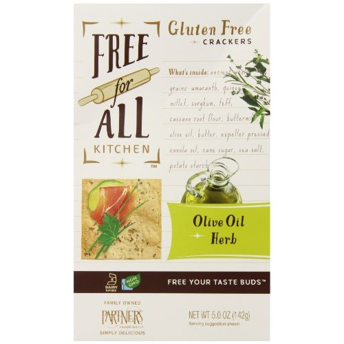 Free For All Kitchen Gluten Free Crackers, Olive Oil & Herb, 5 O...