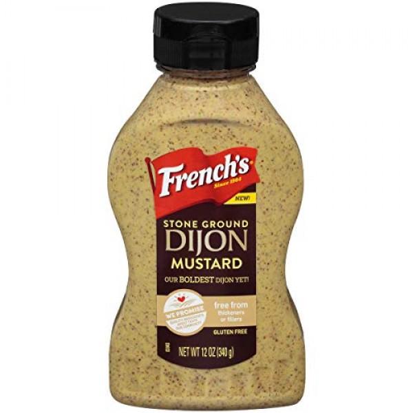 Frenchs Stone Ground Dijon Mustard, 12oz, Pack of 3