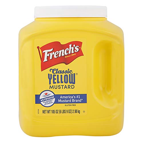 Frenchs Mustard Jar, Classic Yellow, 105 Ounce
