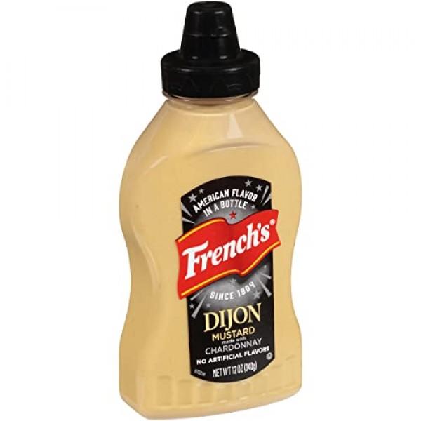 Frenchs Dijon Mustard Squeeze Bottle, 12 oz