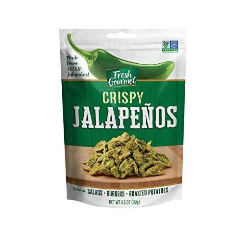 Fresh Gourmet Crispy Jalapenos, Lightly Salted, 3.5 Ounce Pack ...