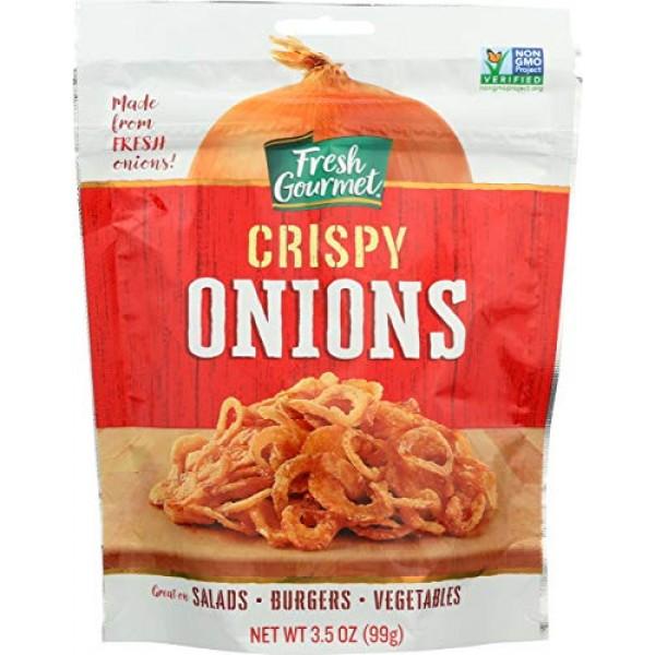 Fresh Gourmet, Crispy Onions Topping, 3.5 Oz