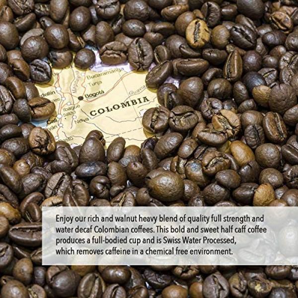 Fresh Roasted Coffee LLC, Swiss Water Half Caf Colombian Coffee ...