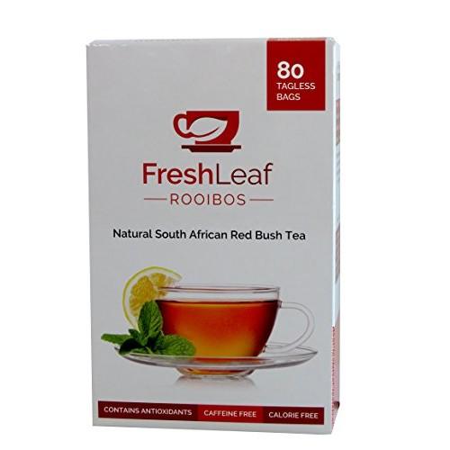 FRESHLEAF Rooibos Tea - 80 Red Tea Bags, Red Tea Detox, 100% Pur...