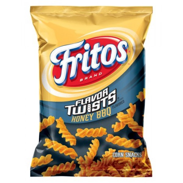 Fritos Corn Chips, Flavor Twists Honey Barbeque, 2-Ounce Large S...