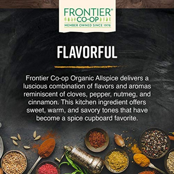 Frontier Co-op Allspice Whole, Select Grade, Certified Organic, ...