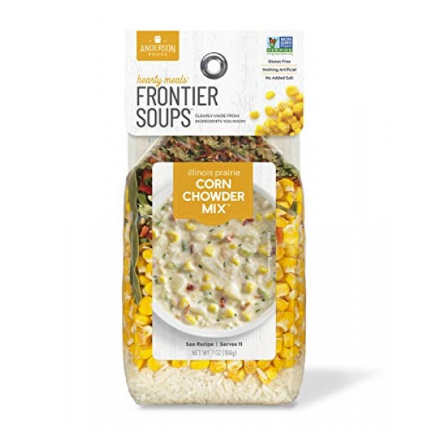 Frontier Soups Hearty Meals Illinois Prairie Corn Chowder Mix, 7...