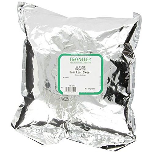 Frontier Basil Leaf, Sweet-imported, C/s, 16 Ounce Bags Pack of 2