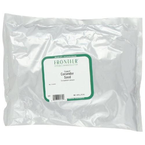 Frontier Coriander Seed Powder, 16 Ounce Bags Pack of 2