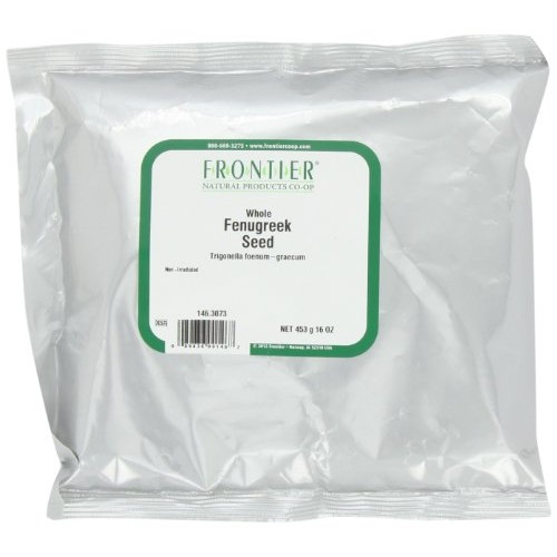 Frontier Fenugreek Seed Whole, 16 Ounce Bags Pack of 3