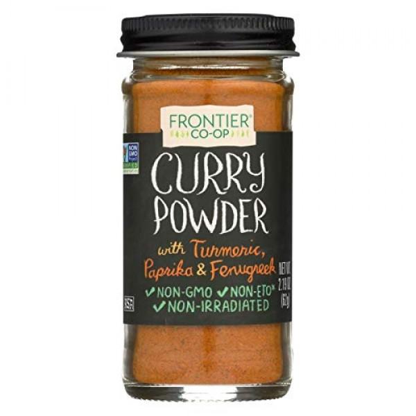 Frontier Curry Powder Spice - Salt - Free Blend - 2.19 Ounces