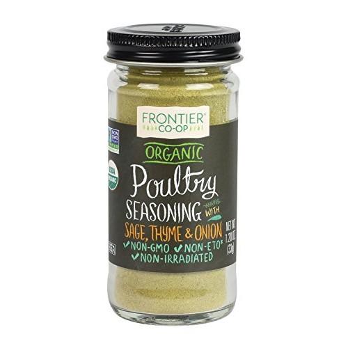 Frontier Poultry Seasoning Certified Organic, Salt-Free Blend, 1...
