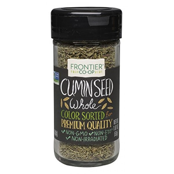 Frontier Natural Products Cumin Seed, Whole, 1.87-Ounce