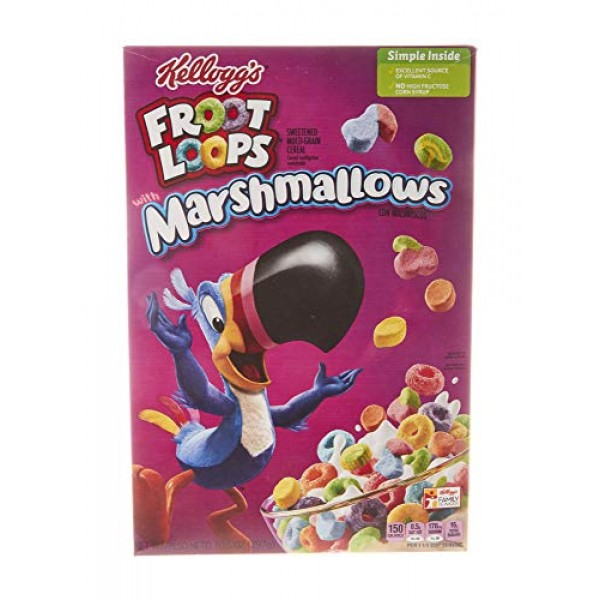 Kelloggs Froot Loops, Breakfast Cereal, Original with Marshmall...