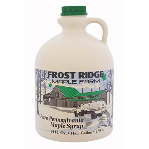 Frost Ridge Maple Farm, Organic Maple Syrup, Grade A, Half Gallo...