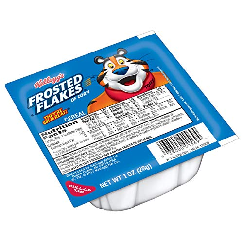 Kelloggs Frosted Flakes, Breakfast Cereal in a Cup, Fat-Free, B...
