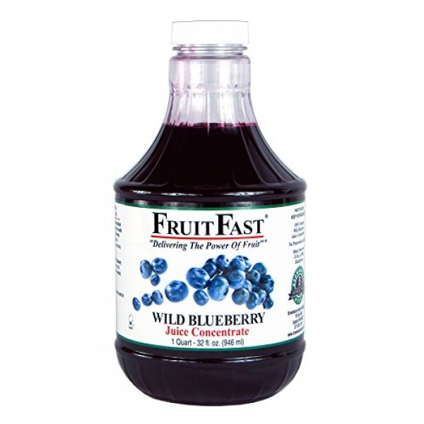 FruitFast - Wild Blueberry Juice ConcentrateCold Filled 1 QUAR...