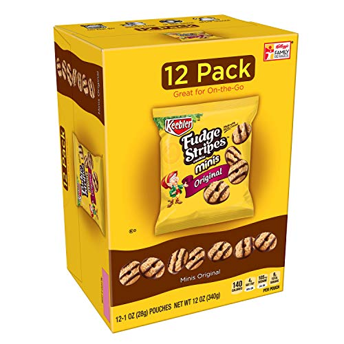 KeeblerFudge Stripes Cookies Minis, Original, 12 oz 12 Count...