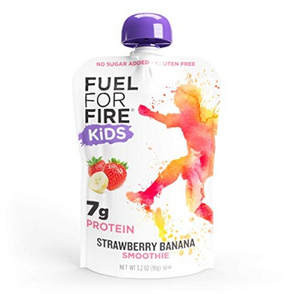 Fuel For Fire KIDS! Strawberry Banana 12 Pack Fruit & Protein ...