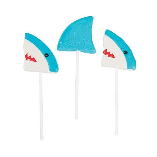 Shark Character Lollipops 12 Pack Mixed-fruit Flavored Suckers