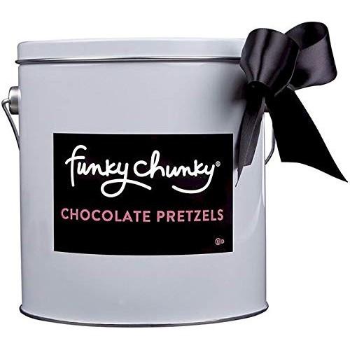 Funky Chunky Pail Gift Tin, Chocolate Pretzel