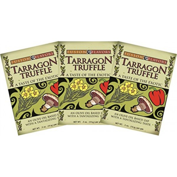 Fusion Flavors Olive Oil Dipping Spices Tarragon Truffle 3 Pack