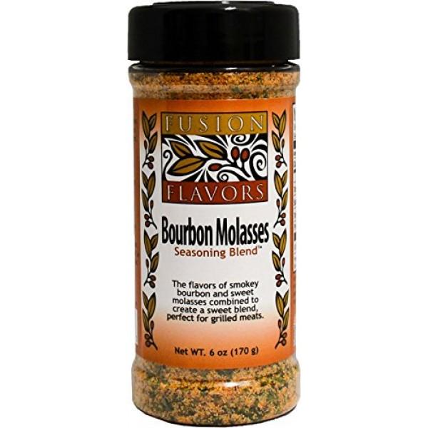 Fusion Flavors, Seasoning Blend Bourbon Molasses, 6 Ounce