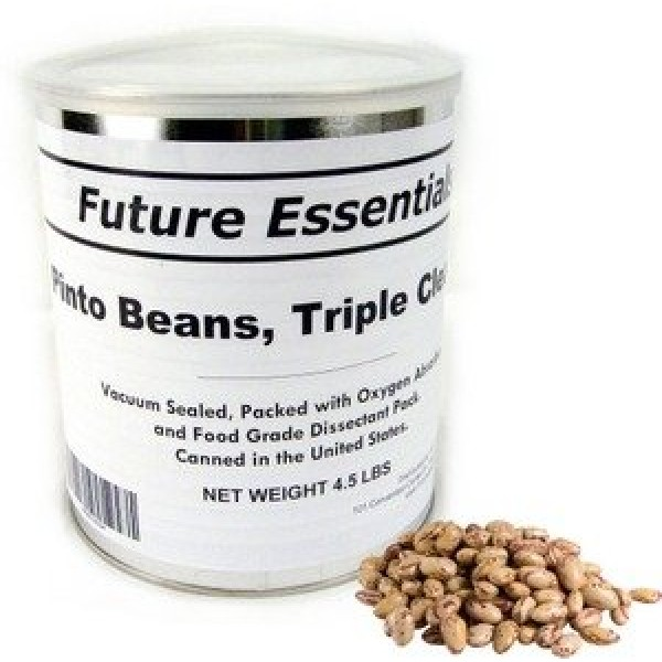 1 Can of Future Essentials Pinto Beans, Dried, # 10 Can, 5 lbs N...