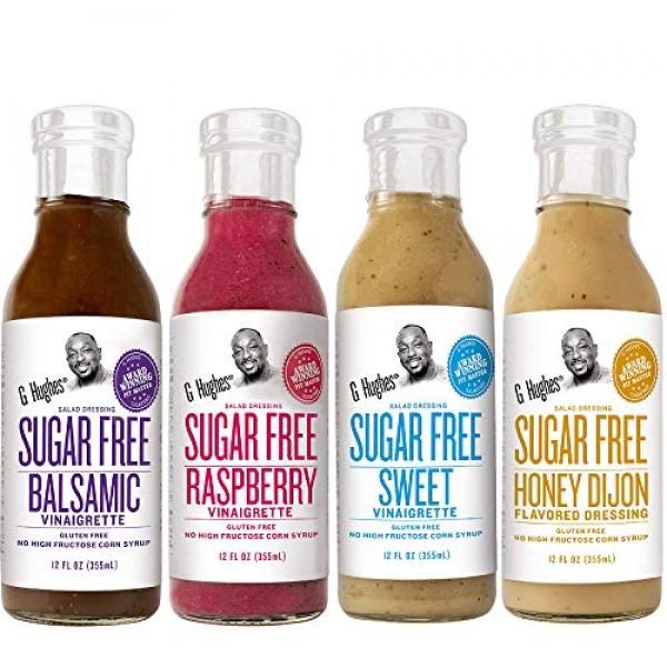 G. Hughes Sugar Free Salad Dressing Bundle including 4-pack Hon...
