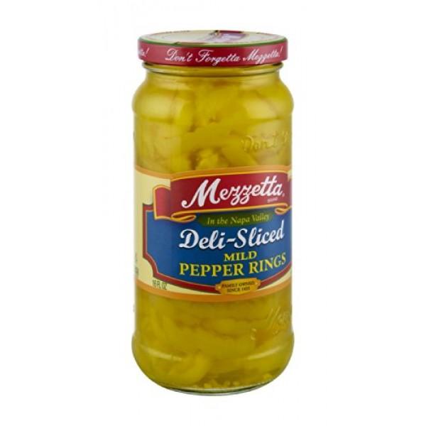 G L Mezzetta Peppers, Mild Ring, 16-Ounce Pack of 6