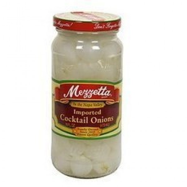 G L Mezzetta Onions, Cocktail, 16-Ounce Pack of 6