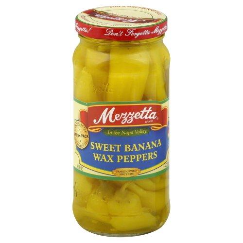 G L Mezzetta Peppers, Sweet Banana, 16-Ounce Pack of 6