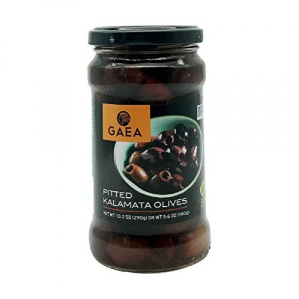 Gaea Pitted Greek Kalamata Olives - 8 Ct. 10.2 oz. Jars - Non-GM...