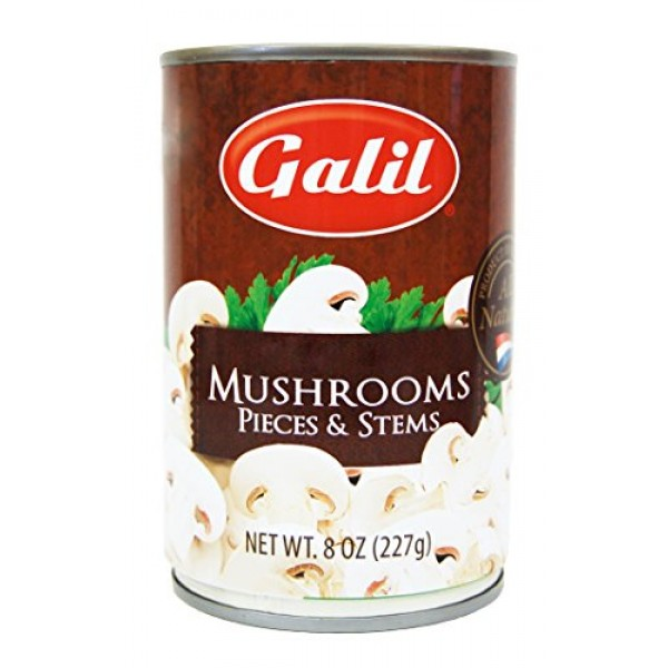 Galil Mushrooms | Pieces and Stems - 8 Ounce Pack of 12
