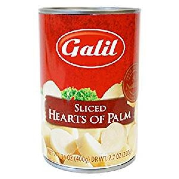 Galil Sliced Hearts Of Palm Non GMO KFP 14 Oz. Pack Of 6.