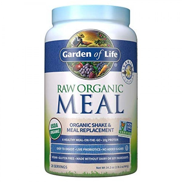 Garden of Life Meal Replacement Vanilla Powder, 28 Servings, Org...