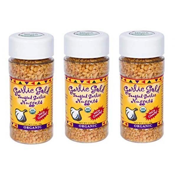USDA Organic Garlic Gold Nuggets, Roasted Garlic Seasoning Granu...