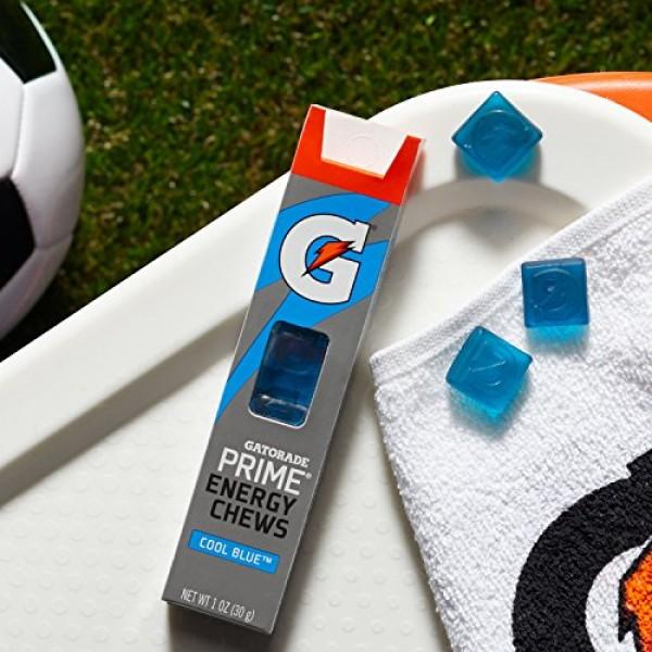 Gatorade Prime Energy Chews, Cool Blue 6 Count of 0.166 oz Each...