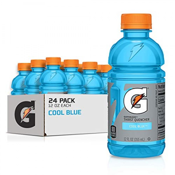 Gatorade Thirst Quencher, Cool Blue, 12 Ounce Bottles Pack of 24