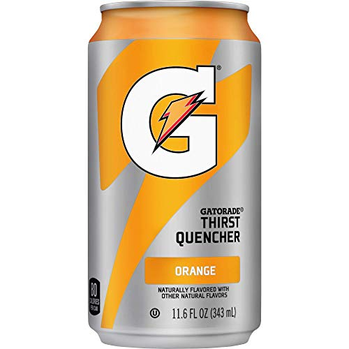 Gatorade Thirst Quencher Can, Orange, 11.6 Oz Can - 24 cans.