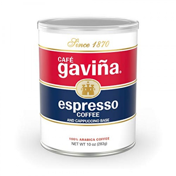 Café Gaviña Espresso Roast Fine Ground Coffee, 10-Ounce Can